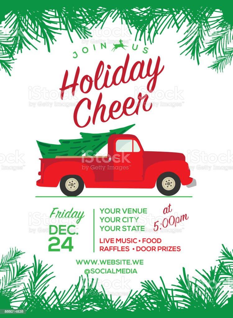 Christmas Cheer celebration invitation design template