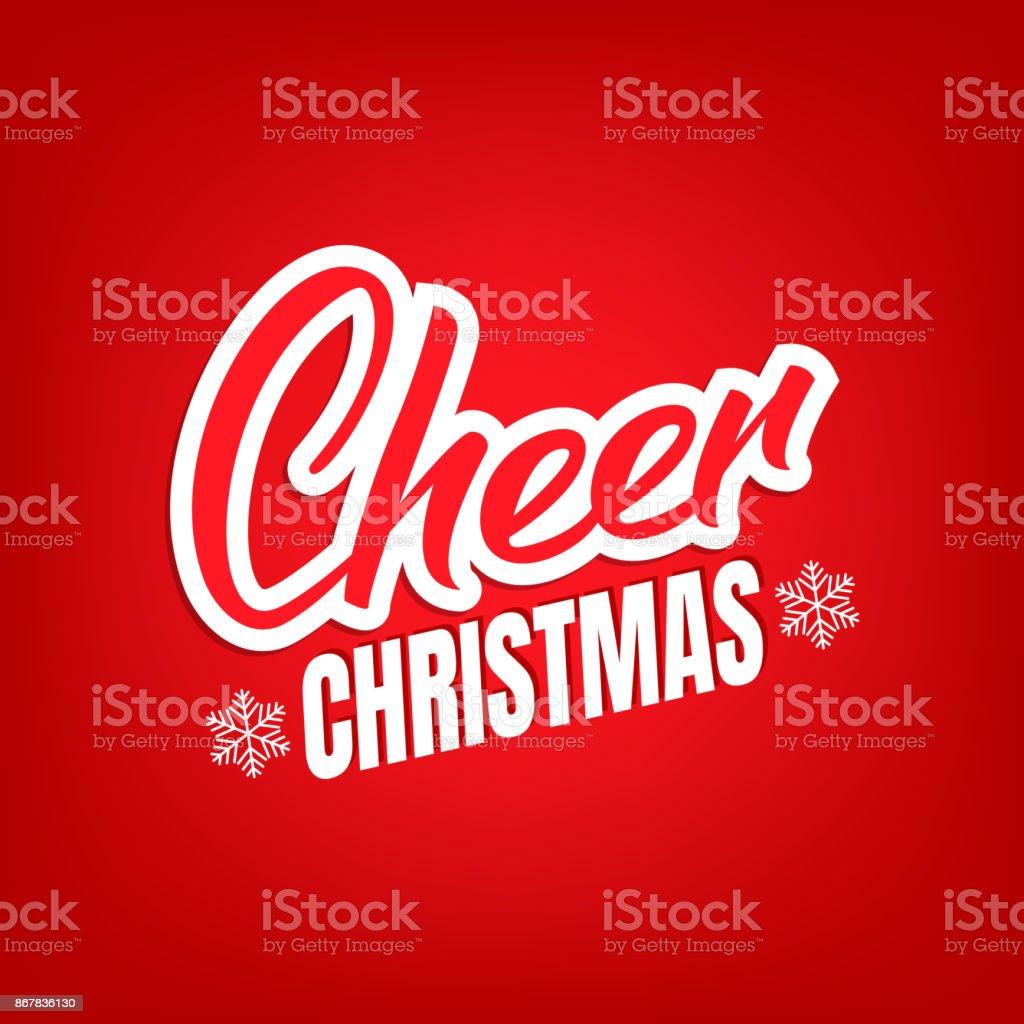 Texte De Christmas Cheer Lettrage Design Carte Avec Citation