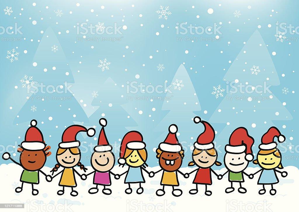 Weihnachten Kinder.Weihnachten Kinder Hände Halten Stock Vektor Art Und Mehr Bilder Von