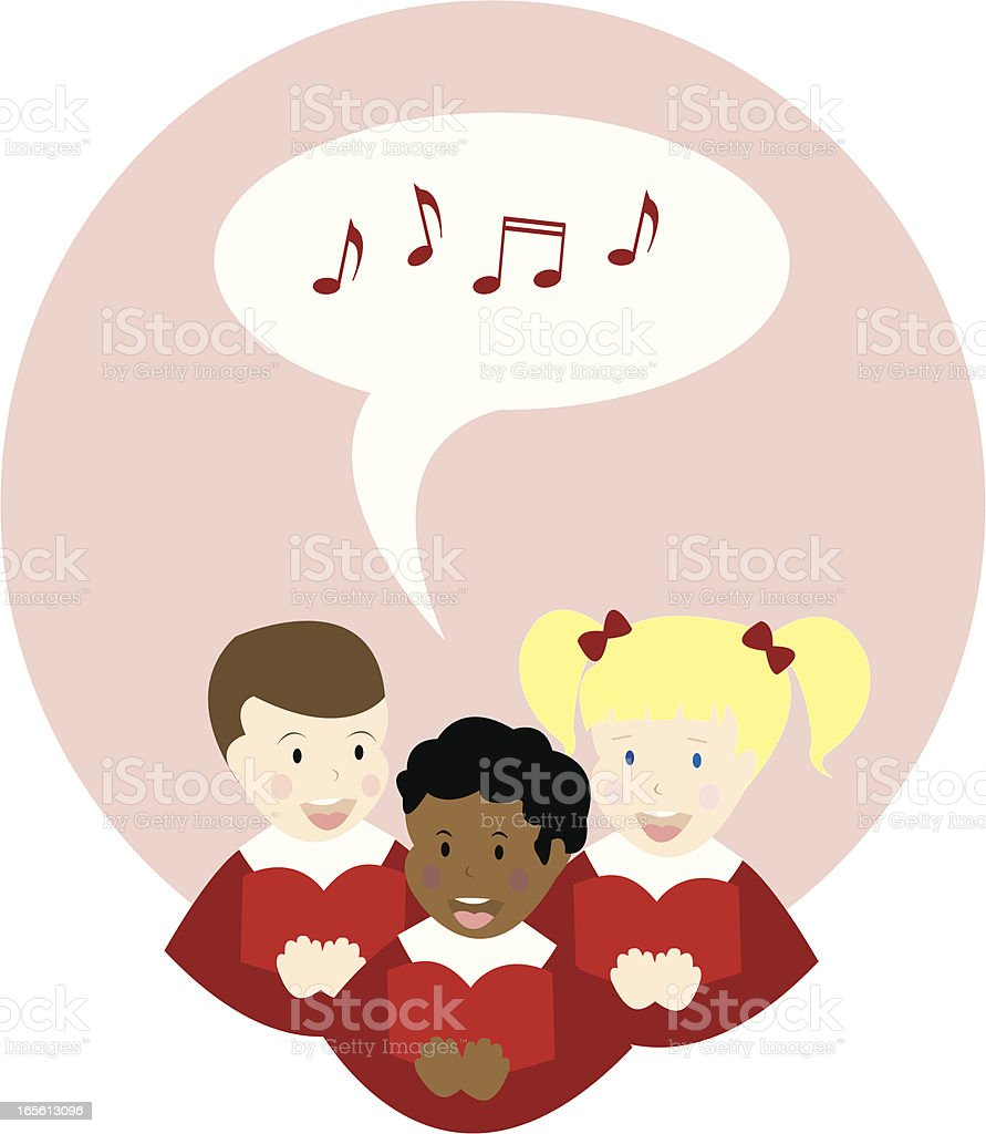 Christmas Choir vector art illustration
