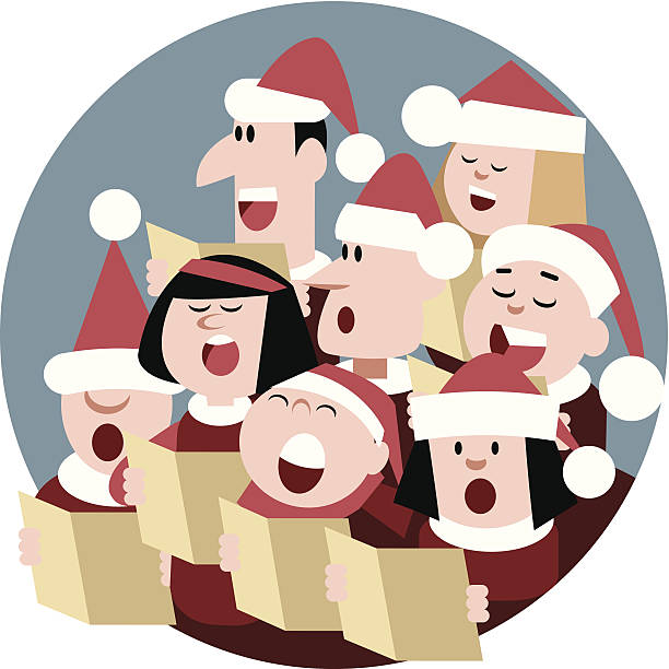 Christmas Choir Cartoon Christmas Choir gospel choir stock illustrations