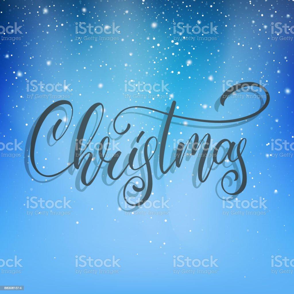 Weihnachten Weihnachtenskript Schriftzug Auf Dem Schnee Winter ...