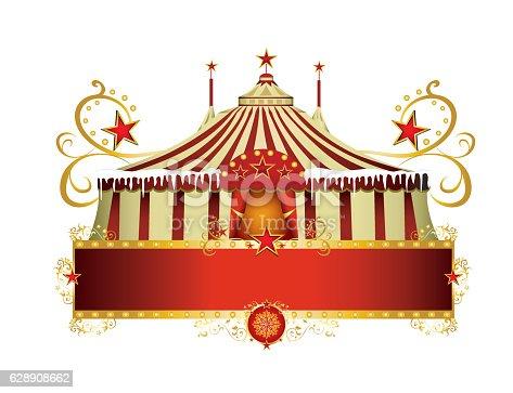 istock Christmas circus sign 628908662