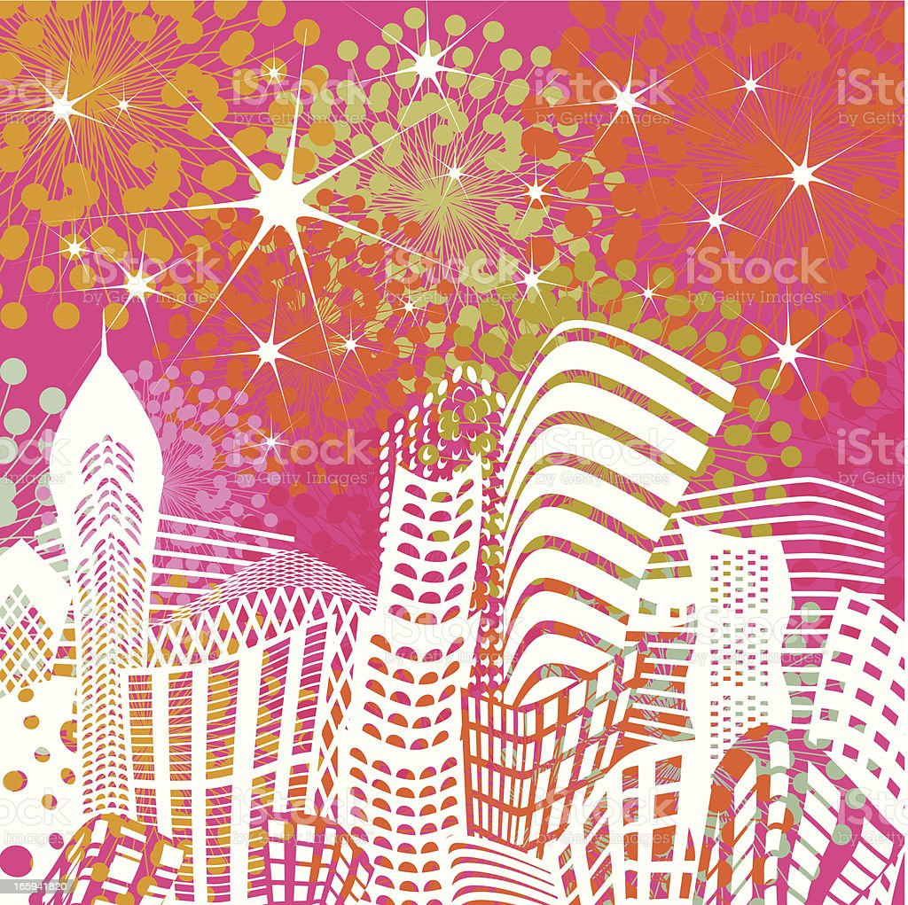 Christmas cityscape royalty-free stock vector art