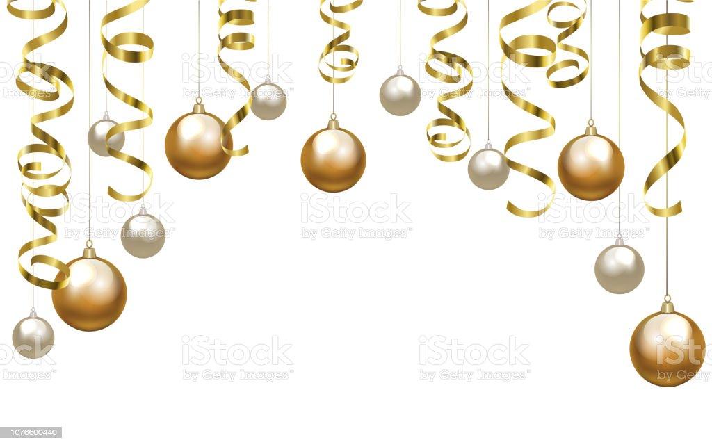 christmas clip art with baubles stock illustration. Black Bedroom Furniture Sets. Home Design Ideas