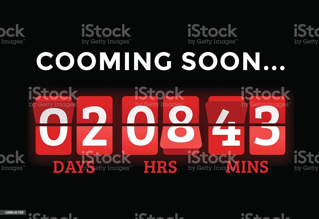 Christmas clock timer digits board panels vector art illustration