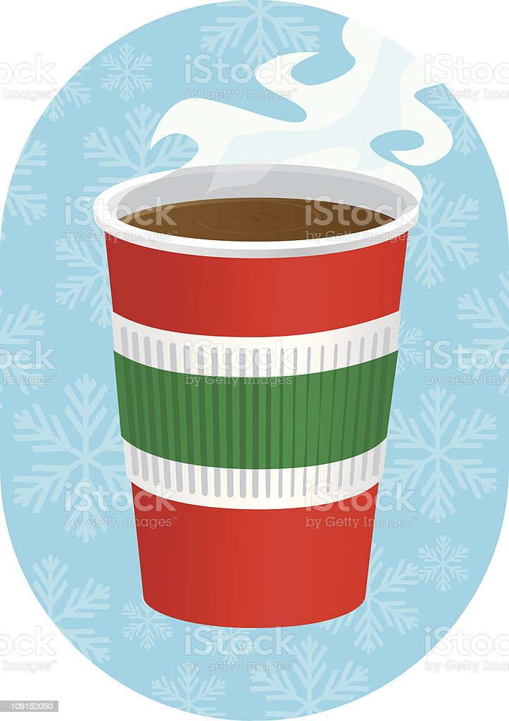 christmas coffe royalty-free stock vector art