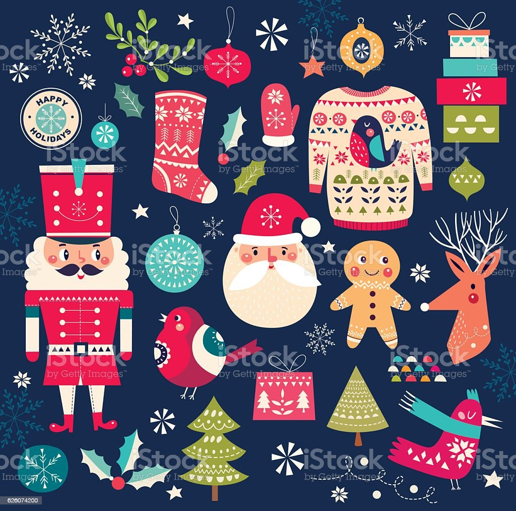 collection de Noël. - Illustration vectorielle