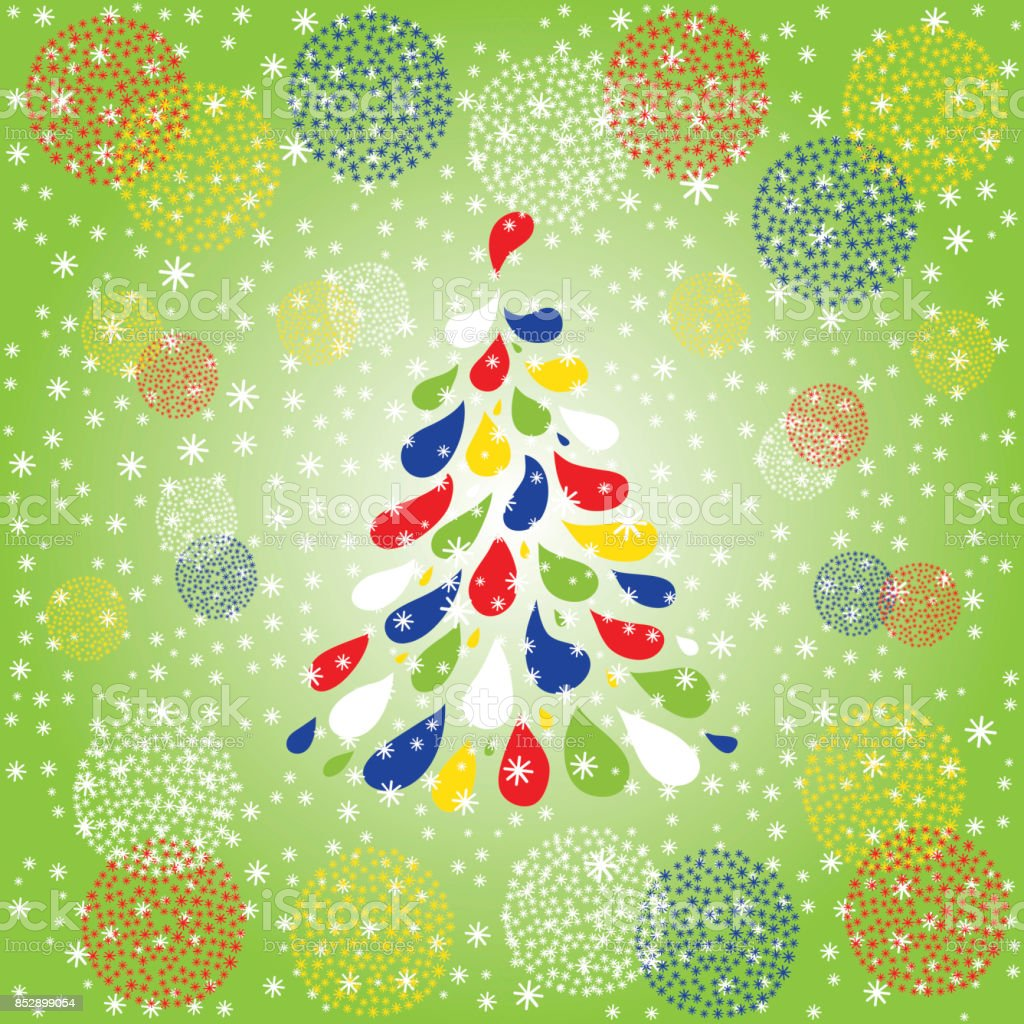 christmas colorful tree christmas and new year background holiday card template winter background