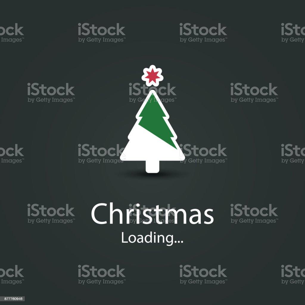Weihnachten kommt Konzeption – Vektorgrafik