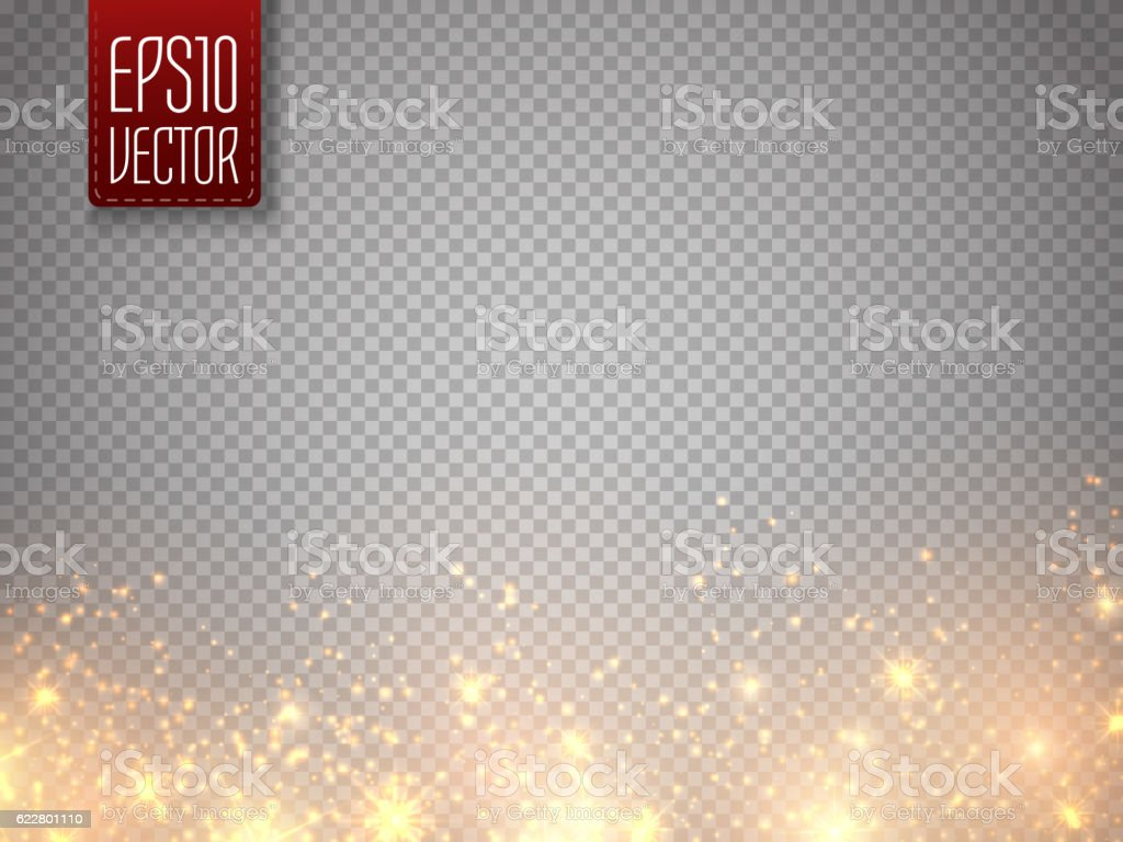 Christmas concept. Vector gold glitter particles background effect. vector art illustration