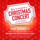 Christmas Concert ticket invitation design template