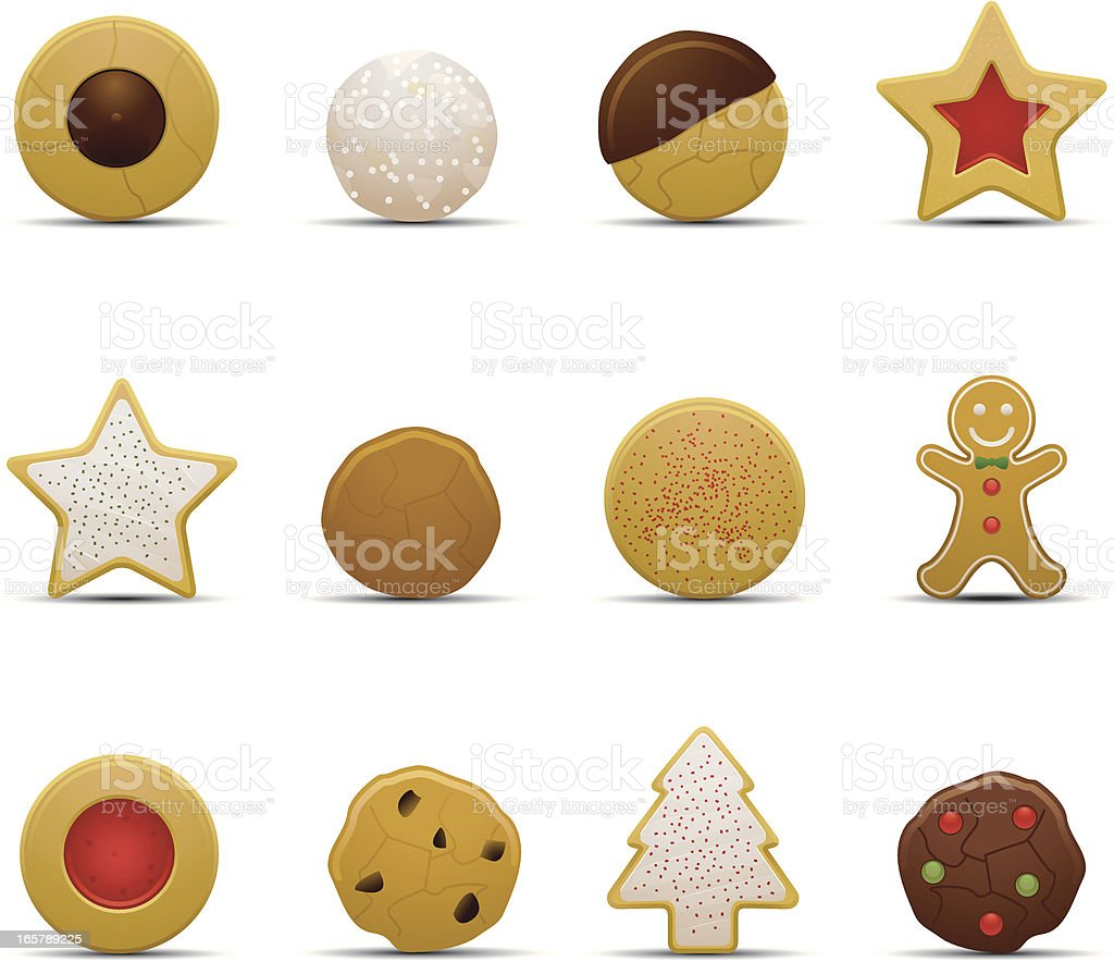 Christmas Cookie Icons vector art illustration