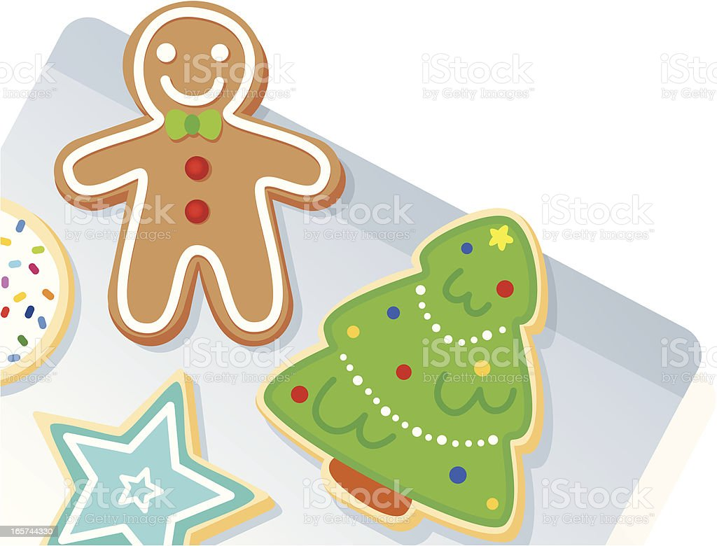 Christmas Cookie Sheet royalty-free stock vector art