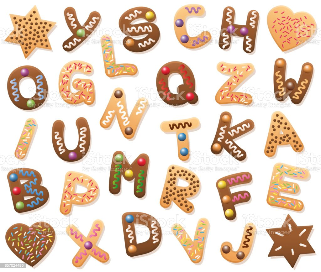 Christmas Cookies Abc Loosely Arranged Find All Letters Of The ...