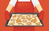 Christmas cookies background