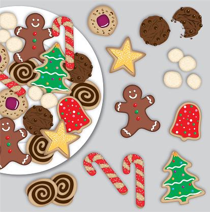 Christmas Cookies Digital Illustration
