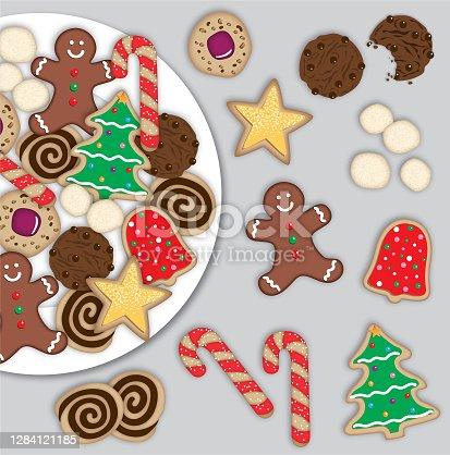 istock Christmas Cookies Digital Illustration 1284121185