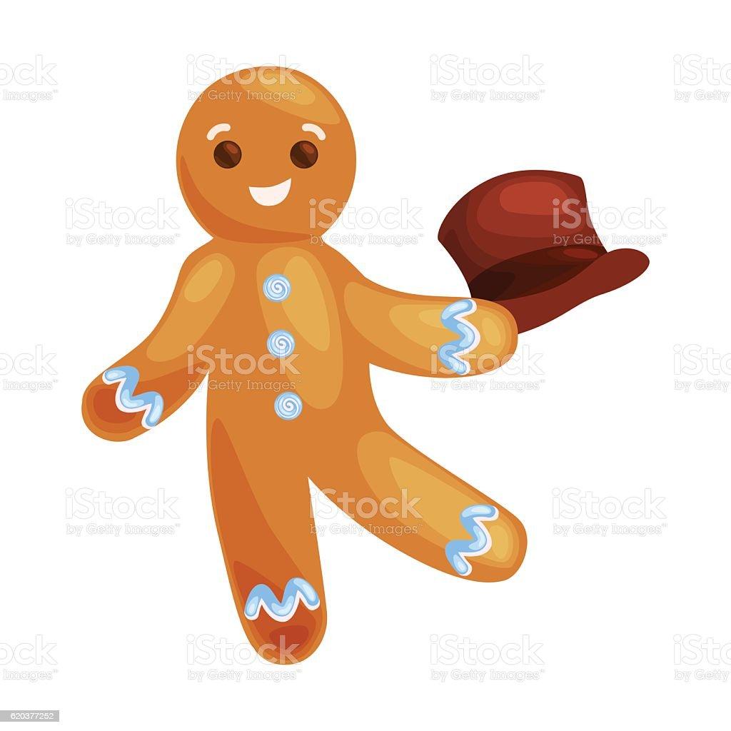 christmas cookies gingerbread man decorated with icing dancing and having christmas cookies gingerbread man decorated with icing dancing and having - arte vetorial de stock e mais imagens de bolacha royalty-free