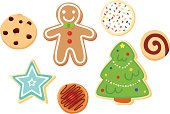 Delicious Christmas cookies in an editable vector file.