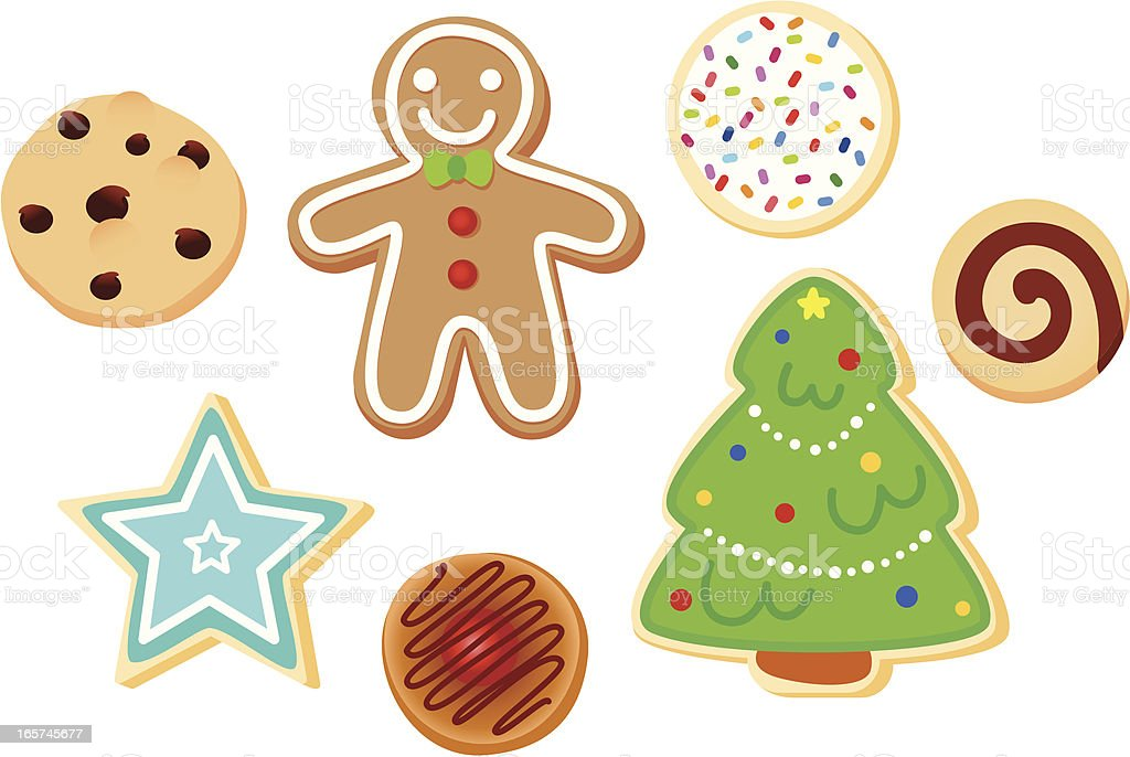 royalty free sugar cookie clip art vector images illustrations rh istockphoto com christmas cookie clipart images christmas cookies clipart border