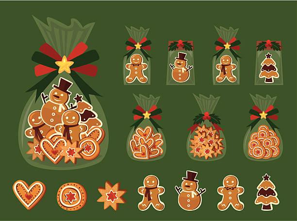 weihnachtsplätzchen - weihnachtsschokolade stock-grafiken, -clipart, -cartoons und -symbole
