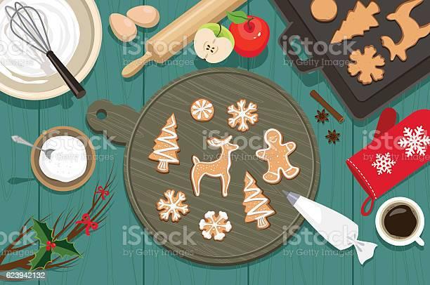 Cookies De Natal - Arte vetorial de stock e mais imagens de Acima
