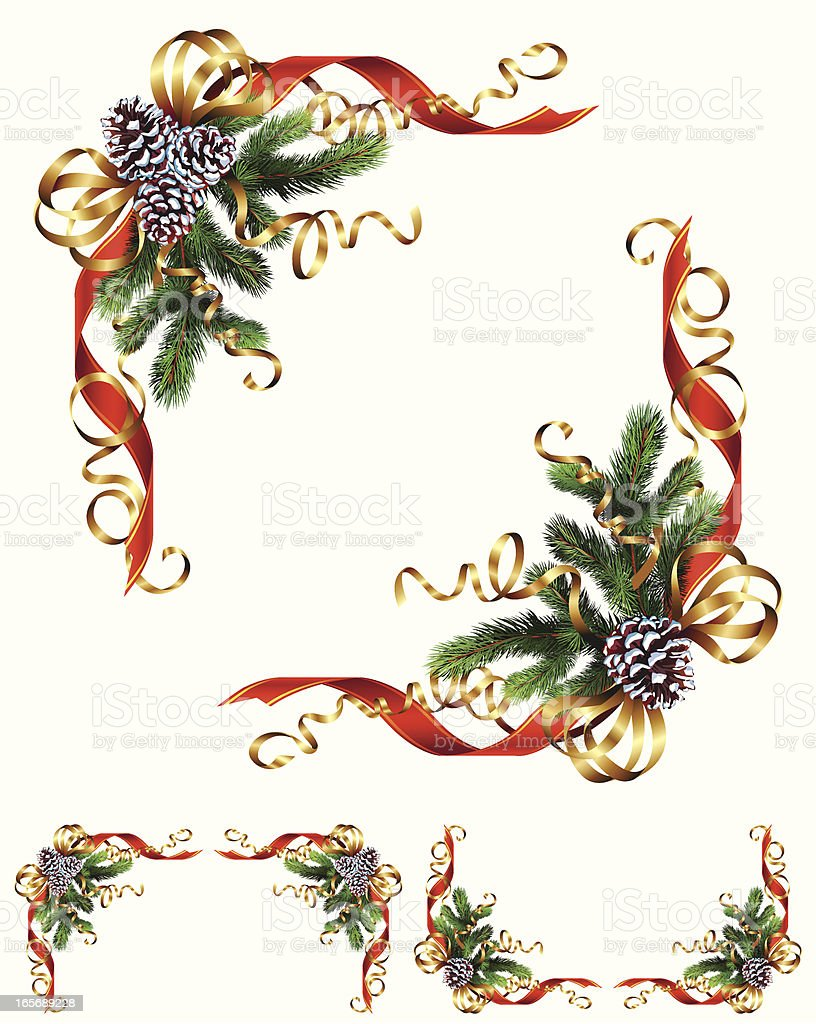 Christmas Corner Ornament royalty-free christmas corner ornament stock vector art & more images of branch - plant part