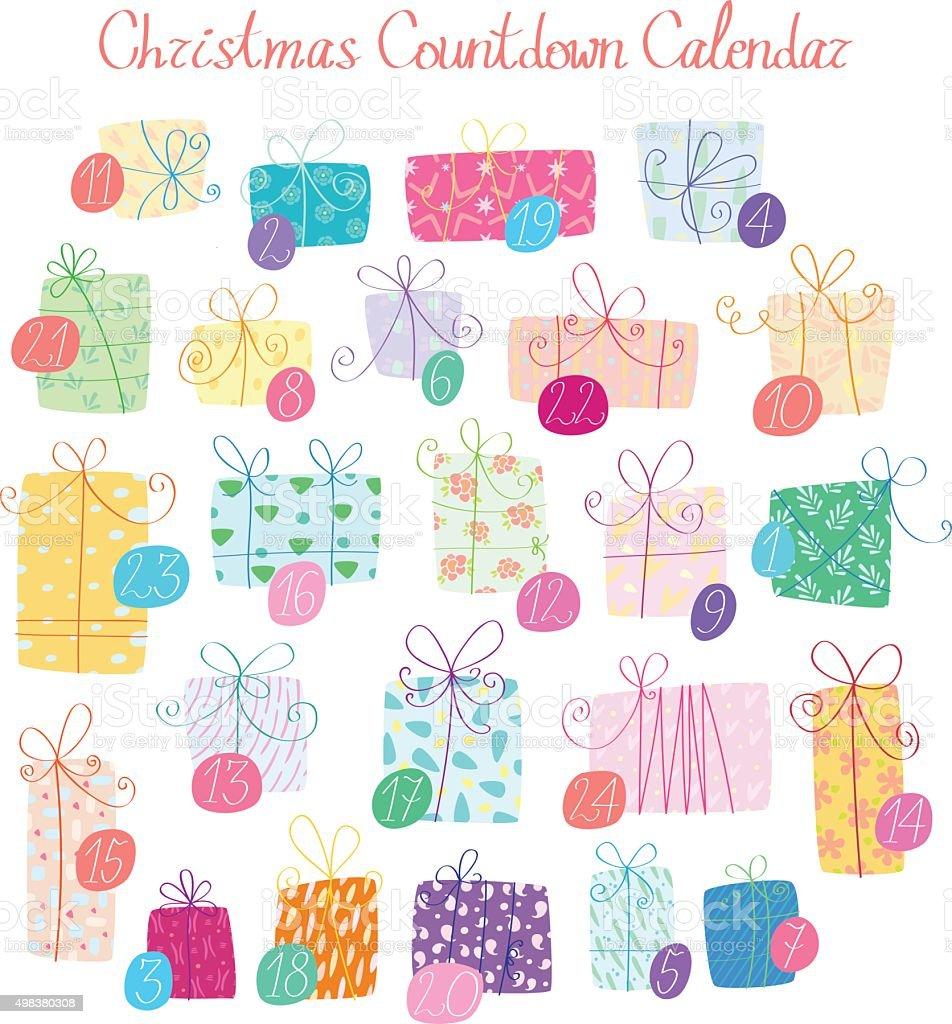 Calendario Conto Alla Rovescia.Calendario Di Natale Conto Alla Rovescia Immagini