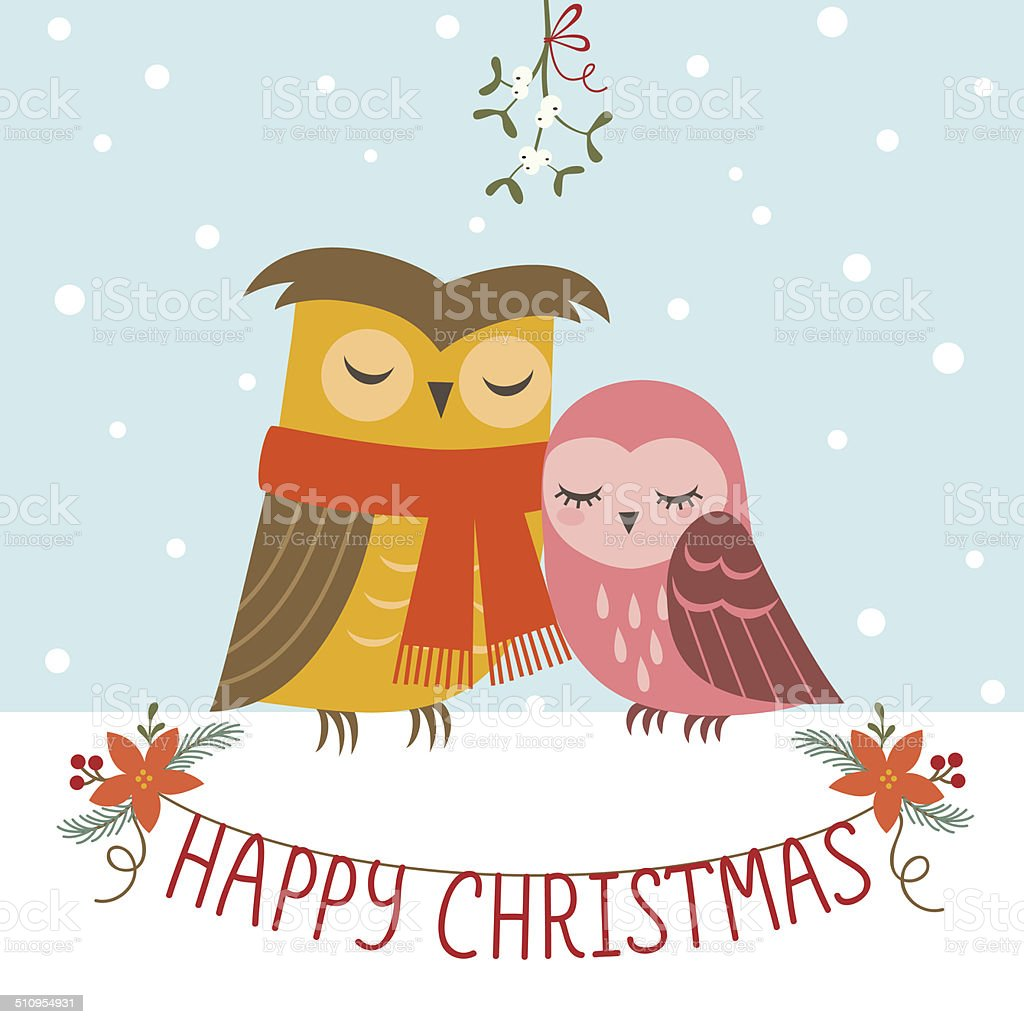 クリスマスの楽しみのカップル - お祝いのベクターアート素材や画像を