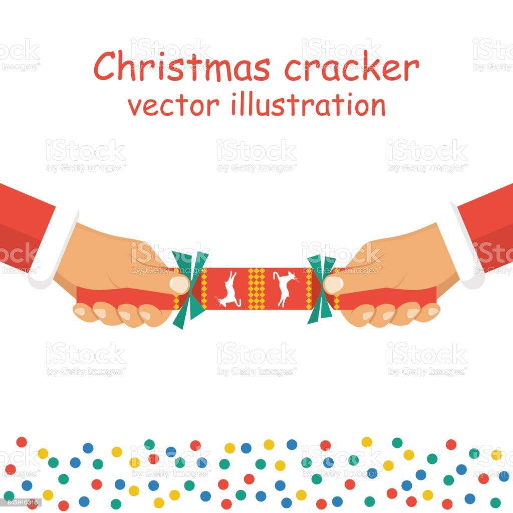 Christmas Cracker Vector.Christmas Cracker Holding In Hand Stock Vector Art More