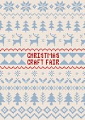 A hand illustrated seamless Christmas pattern created with imperfect square shapes/pixels to have a rough, handmade, arts and crafts feel. This pattern is perfect for your poster, festive design project or as a background for any Christmas invitation. The squared pattern incorporates reindeer, holly, Christmas trees and snowflakes and can be repeated both vertically and horizontally. The scalable eps10 file can also be used at any size without loss of quality.
