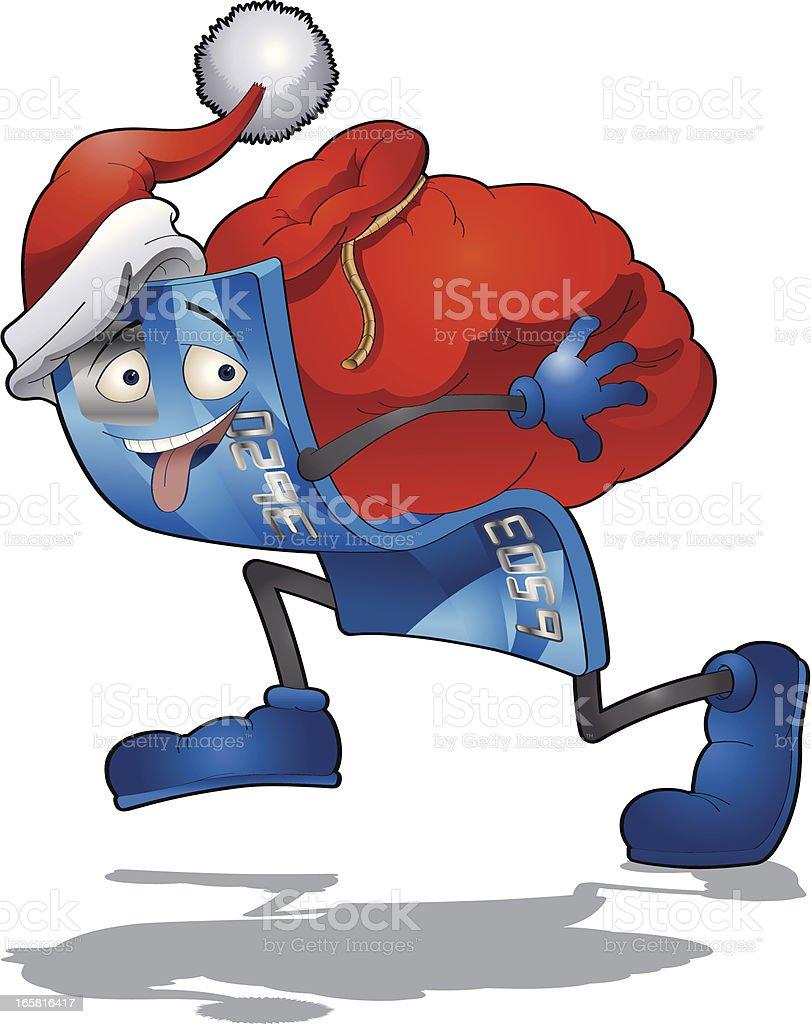 Christmas Credit Card royalty-free stock vector art