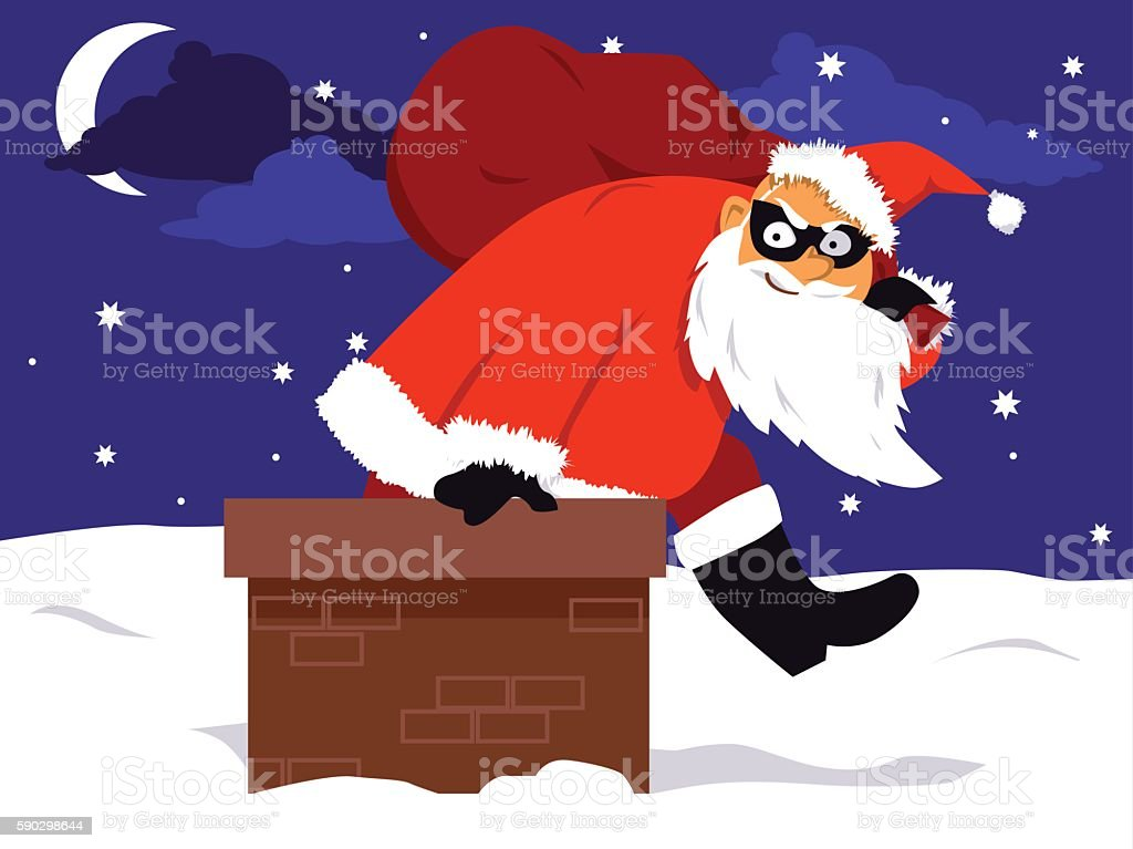 Christmas crime season vector art illustration