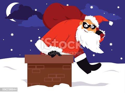 Christmas Crime Season-vektorgrafik och fler bilder på Alarm 590298644