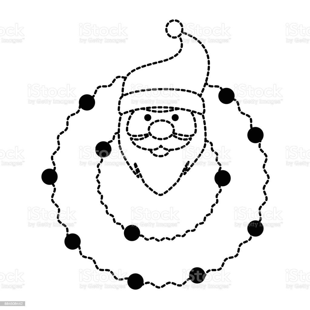 94830c4a301f cabeça de coroa de Natal com Papai Noel decorativo vetores de cabeça de  coroa de natal