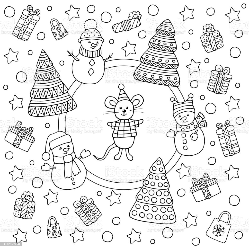 Christmas Decoration Bells Candies Holly Pine Stock Vector ...   1024x1024