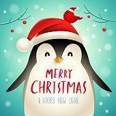 Christmas cute animal cartoon character.
