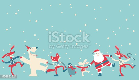 Vector illustration - Christmas Dancing