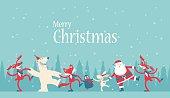 Vector illustration - Christmas Dancing