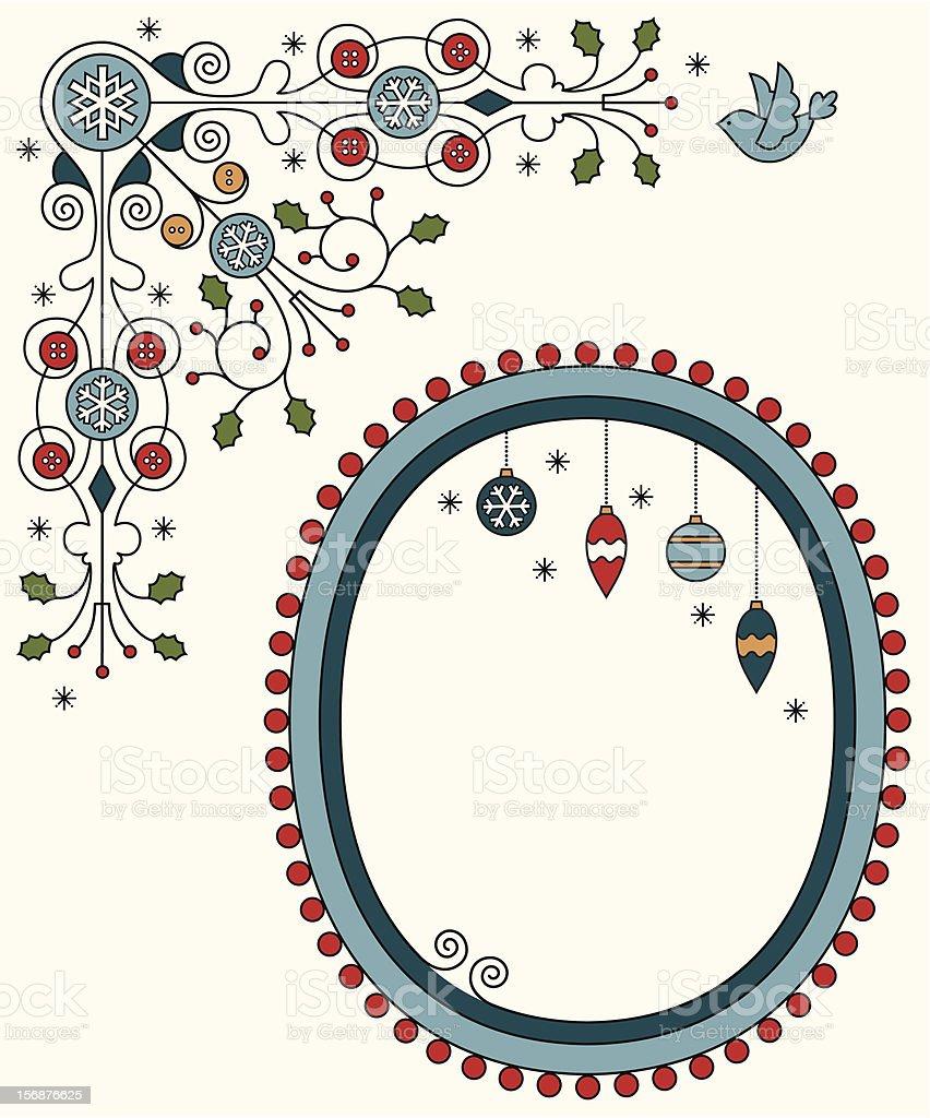 Christmas Deco frame royalty-free stock vector art