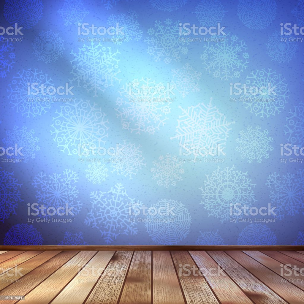 Christmas Decor blue bright. EPS 10 royalty-free stock vector art