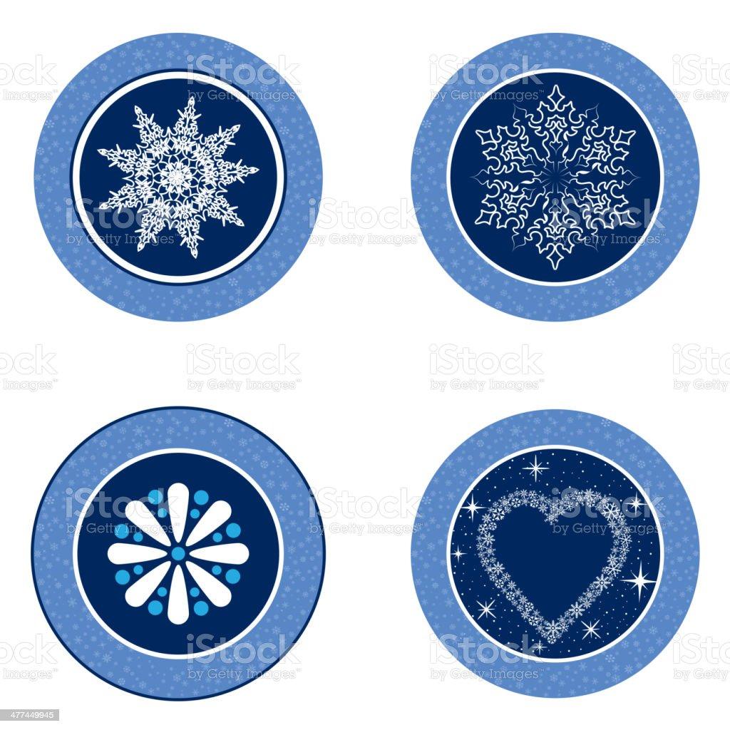 Christmas decor icon set. Snow flake symbol vector collection. royalty-free stock vector art