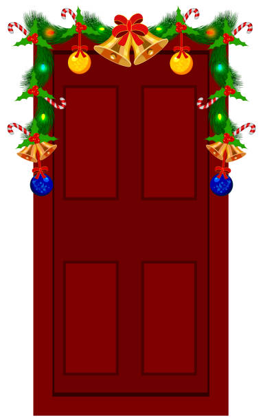 Royalty Free Wreath On Door Clip Art, Vector Images ...