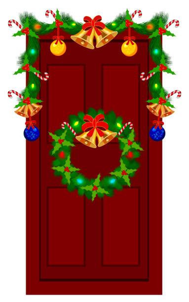 Royalty Free Door Wreath Clip Art, Vector Images ...
