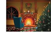Christmas decorated interior