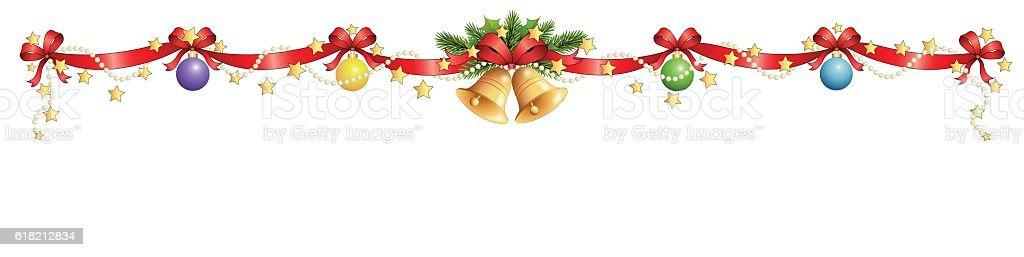 Christmas decoration banner vector art illustration