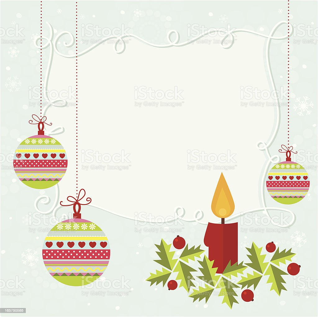 Christmas decoration card royalty-free christmas decoration card stock vector art & more images of backgrounds