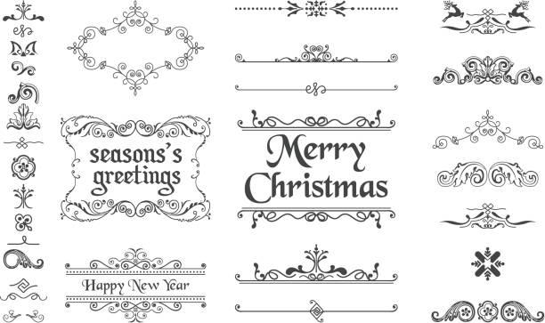 Christmas Decoration Collection Christmas Decoration Collection obsolete stock illustrations
