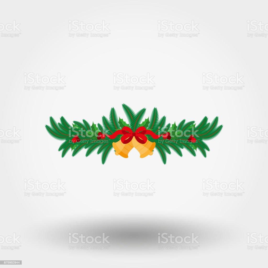 Weihnachtsdekoration Wohnung Stock Vektor Art Und Mehr Bilder Von